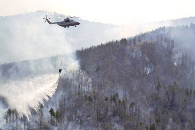 Russian Helicopters set to fight fires