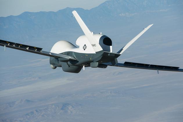 Triton UAS flies with MFAS search radar