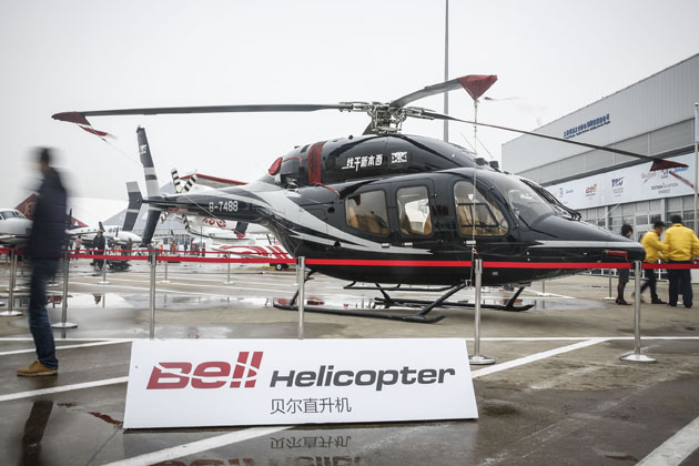 Bell inks LoIs for five helicopters in China
