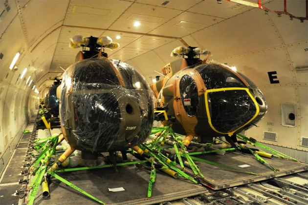 Afghan Air Force receives six MD 530F helicopters
