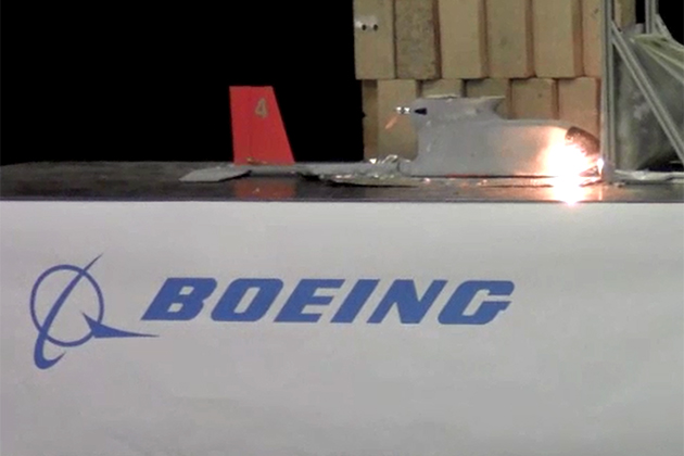 Boeing demos counter-UAS laser