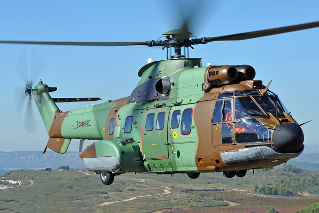 Eurocopter test flying Albanian Super Pumas