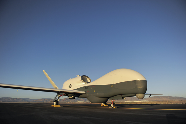 First US Navy MQ-4C BAMS aircraft unveiled