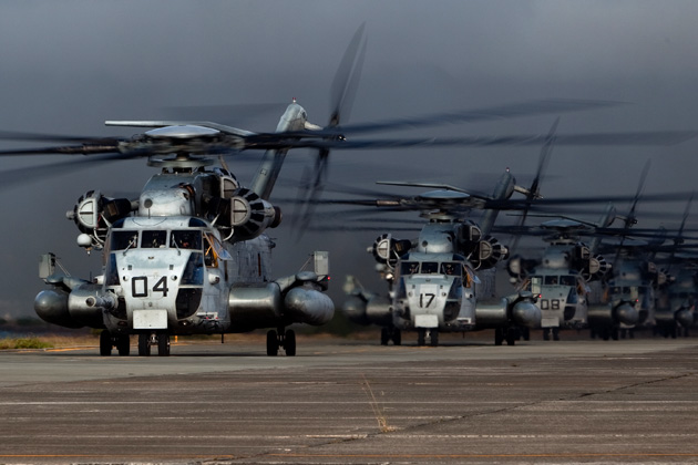 CH-53Es join Marine Corps squadron in Hawaii