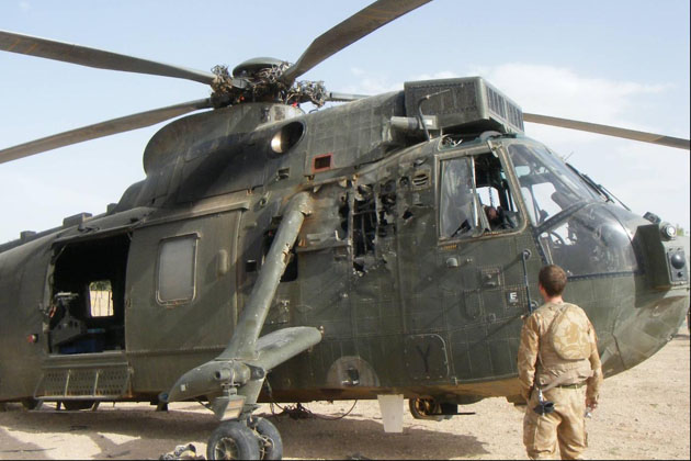 Sea King damaged by RPG is returned to service