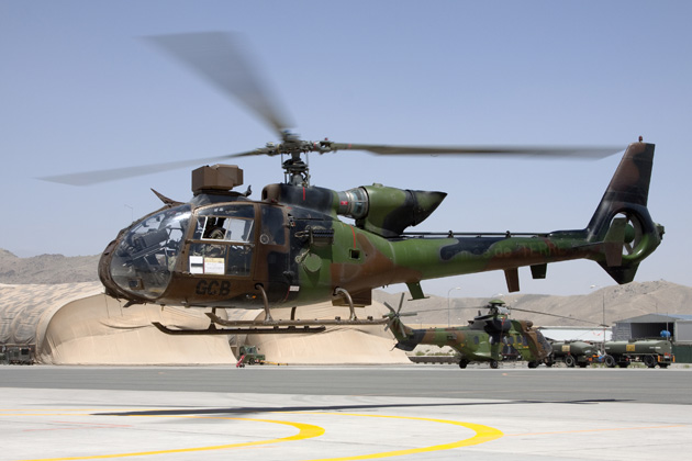 French Army Gazelles leave Afghanistan