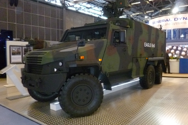 Eurosatory 2012: GDELS launches 6x6 version of the Eagle