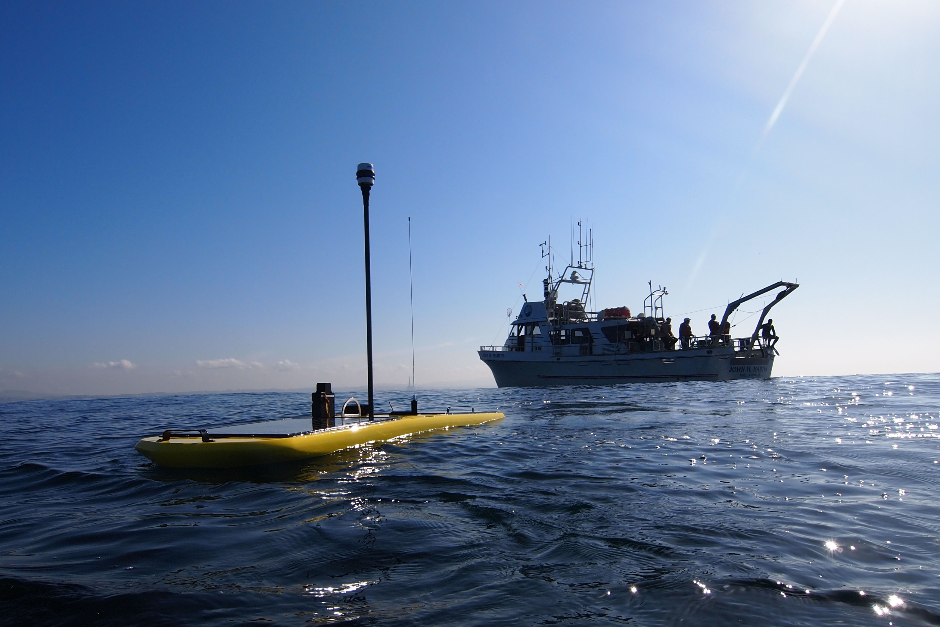 Wave Glider monitors Hurricane Sandy