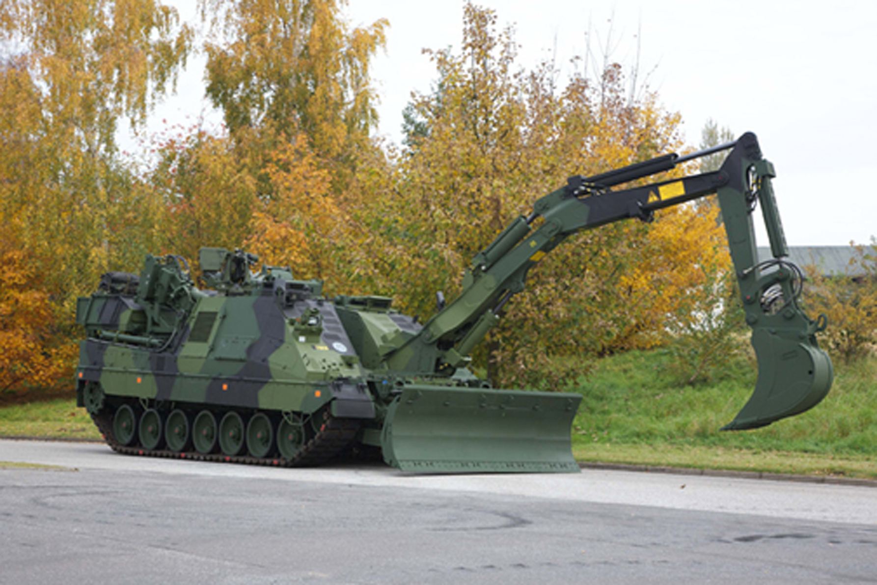Sweden receives first Kodiak armoured engineering vehicle