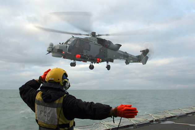 Wildcat trials continue with first landing on frigate at sea
