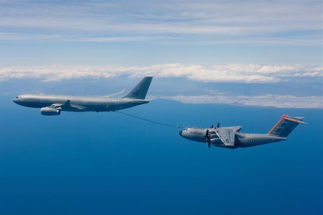 A400M makes first A330 MRTT refuelling contacts