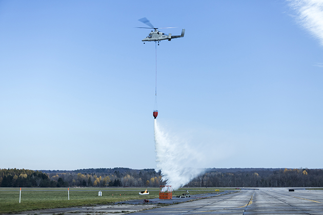 Firefighting mission goes unmanned