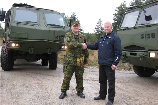 Estonia receives first armoured SISU 8x8 vehicle