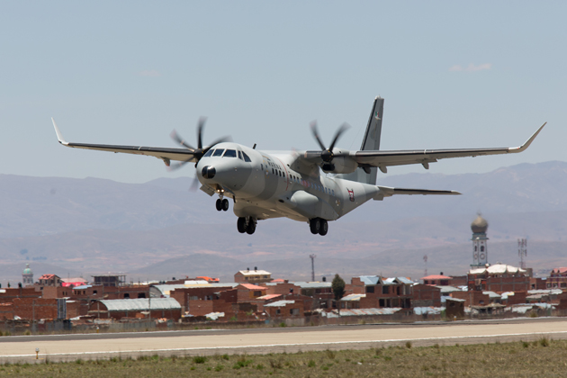 Airbus C295W demonstrated in Bolivia