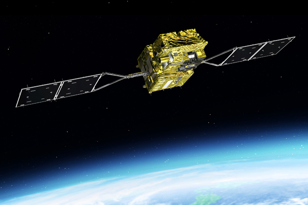 Japanese communications satellite damaged