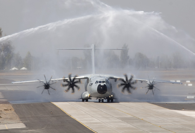 FIDAE 2012: A400M carrying out hot and high tests in South America