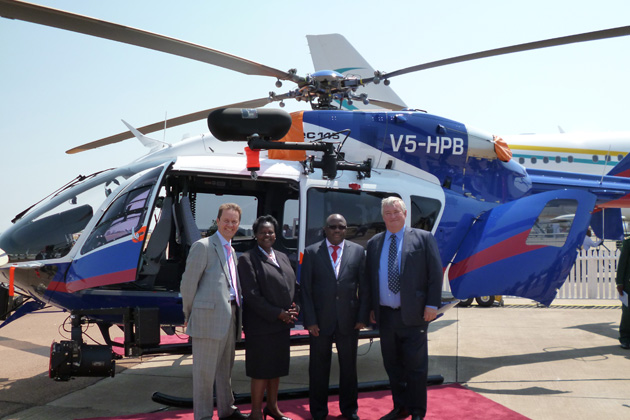AAD 2012: Eurocopter delivers EC-145 to Namibia