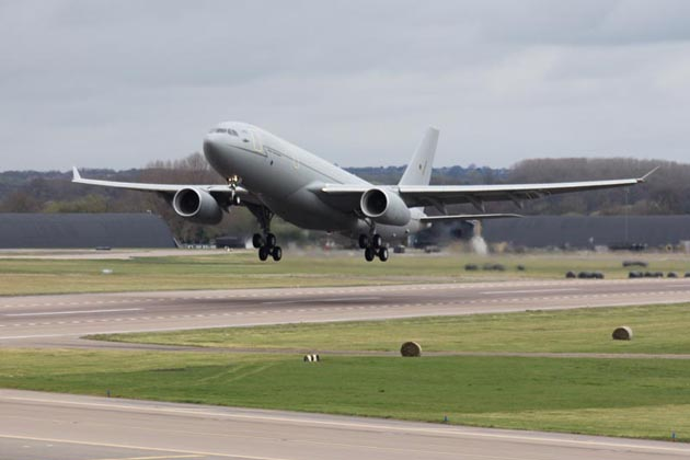 RAF A330 MRTT makes maiden flight