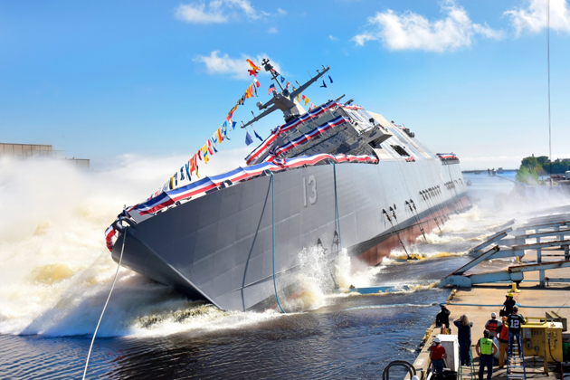 Lockheed team launches 13th LCS