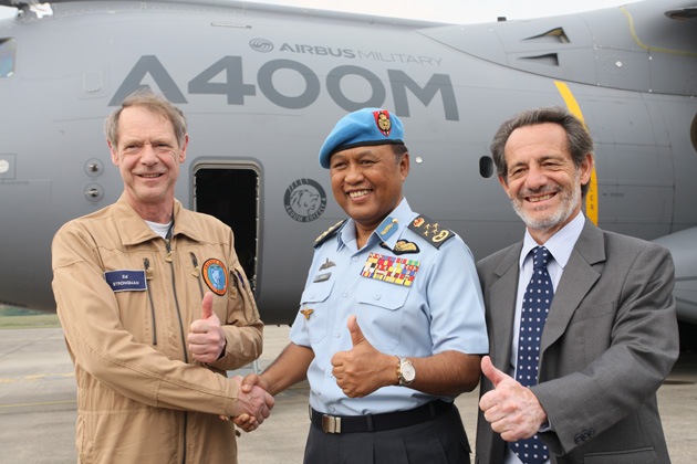 DSA12: A400M arrives in Asia