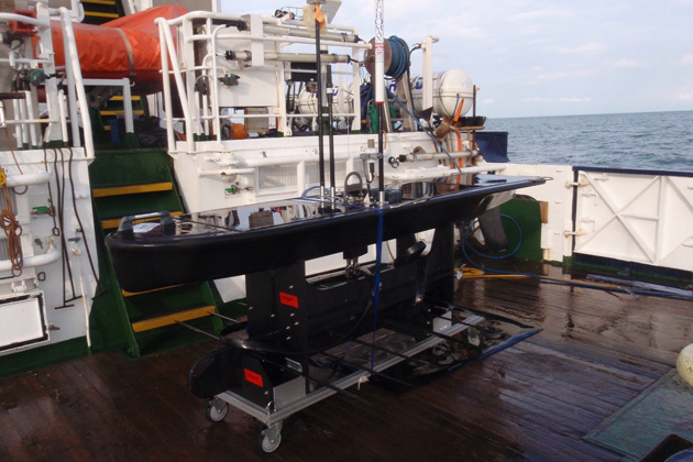 Wave Glider in water sampling mission