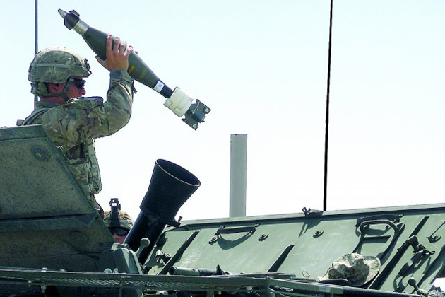 First APMI round fired from Stryker