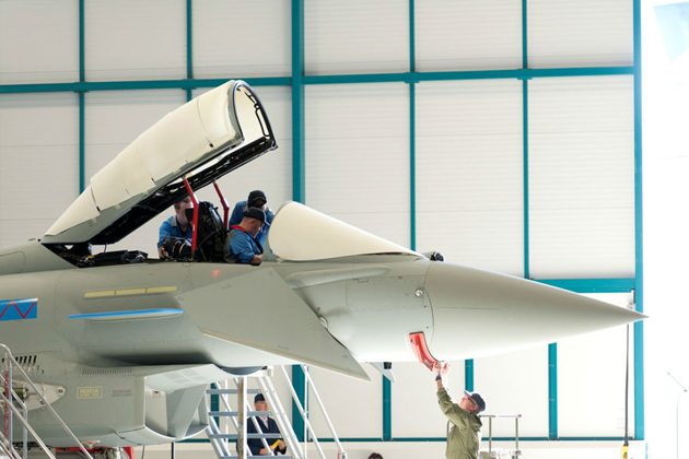 First RAF Typhoon undergoes major BAE Systems maintenance